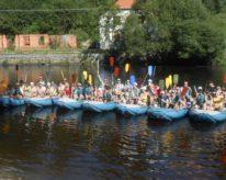 Letní rafting na Vltavě