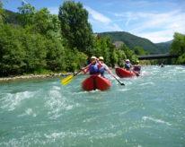 Sjíždění alpských řek v Itálii